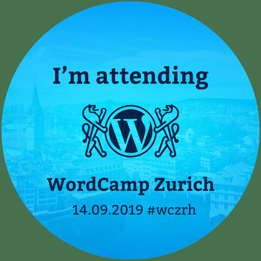 WordCamp Zürich 2019 banner